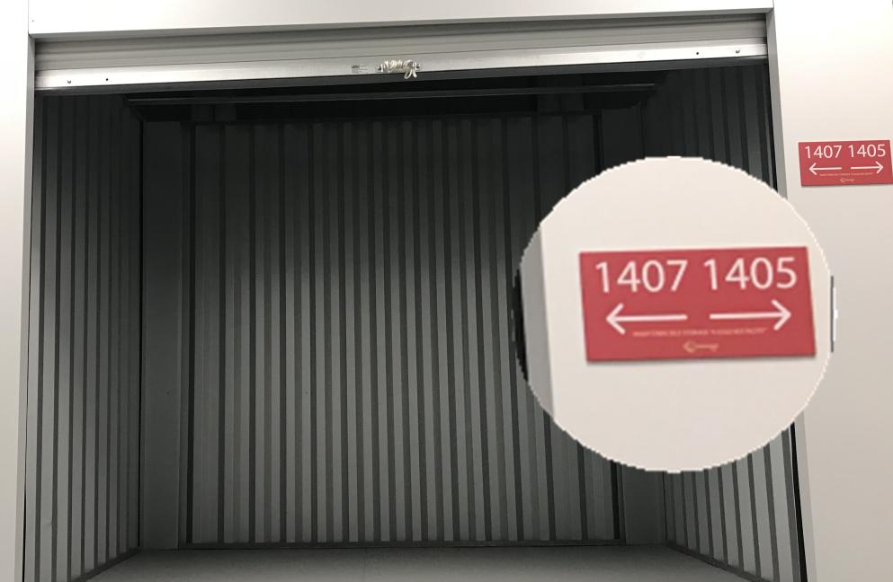 storage units photo of unit identification number