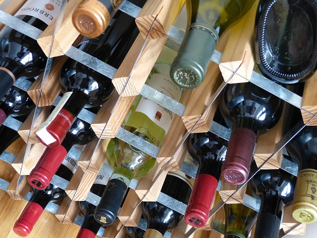 Climate Controlled units for wine storage photo of wine bottles on rack